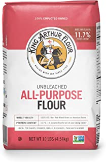 King Arthur Flour, All Purpose Unbleached Flour, Non-GMO Project Verified, Certified Kosher, No Preservatives, 10 Pounds (...