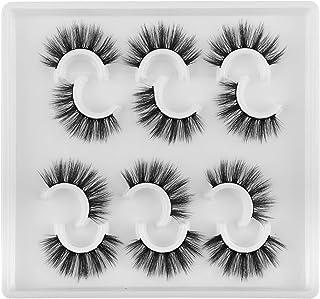 JIMIRE Fake Eyelashes Fluffy Full Volume False Lashes Pack 6 Pairs