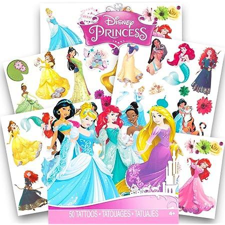 10 X Disney Princess Temporary Tattoos Kids Birthday Party Bag fillers #Sticker