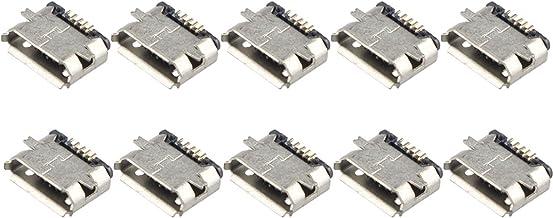 10 piezas Desconocido Conector de enchufe Micro USB tipo B hembra de 180 grados 5 pines SMD SMT Soldador PCB Soporte para teléfono