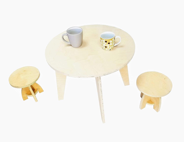 RoyHammer Round Kids Table & Two Stools