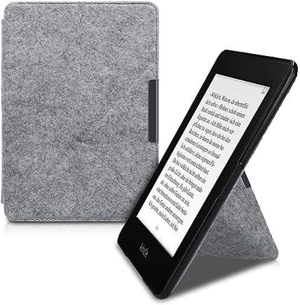 stilbag e-Reader Tasche Leon f/ür  Kindle Oasis Gummiband orange 9. Generation Wollfilz hellgrau