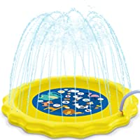 """HISTOYE 73"""" Outdoor Sprinkle Play Mat for Toddlers"""