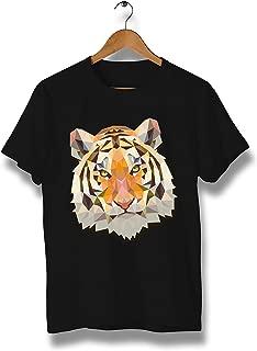 Tiger Face Modern Art T-Shirt - T-Shirt Comfortable 100% Cotton tee