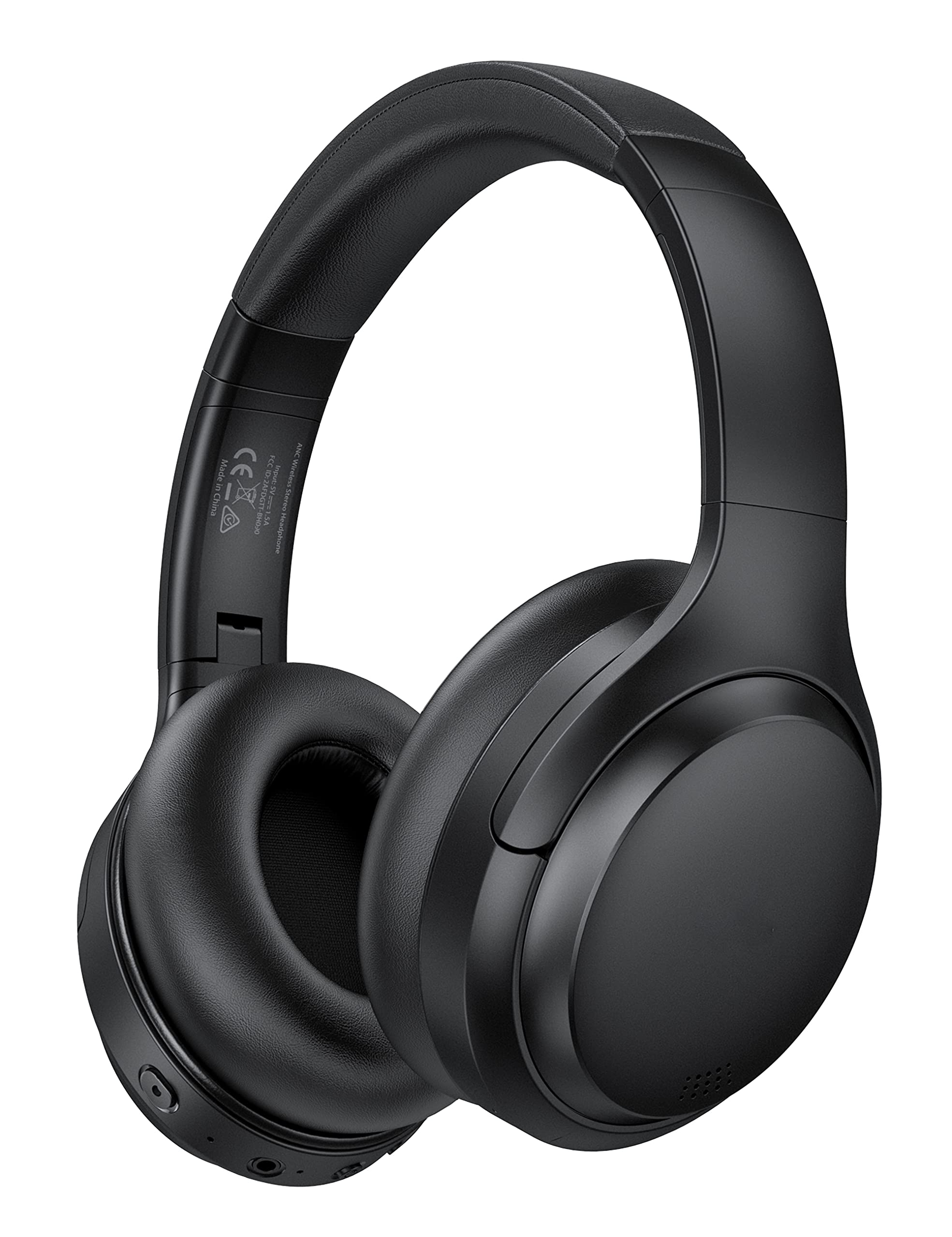 Hybrid Active Noise Cancelling Headphones with 35H Playtime, Type-C Fast Charging, Bluetooth 5.0, Hi-Fi Stereo Sound, Built-in Mic, Soft Protein Earpads, Over Ear Foldable Wireless Headset
