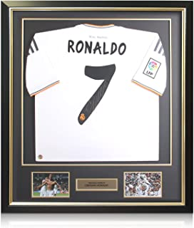 ronaldo signed shirt framed