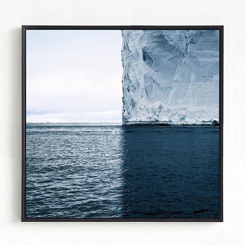 salida Hstone Pintura Minimalista Moderna Glaciar Mar, Mar, Mar, Nórdico Lienzo Pinturas Sala de eEstrella Posters , 4040cm  bienvenido a elegir