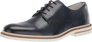 Kenneth Cole New York Men's Vertical Lace Up B Oxford, Navy, 11.5 M US