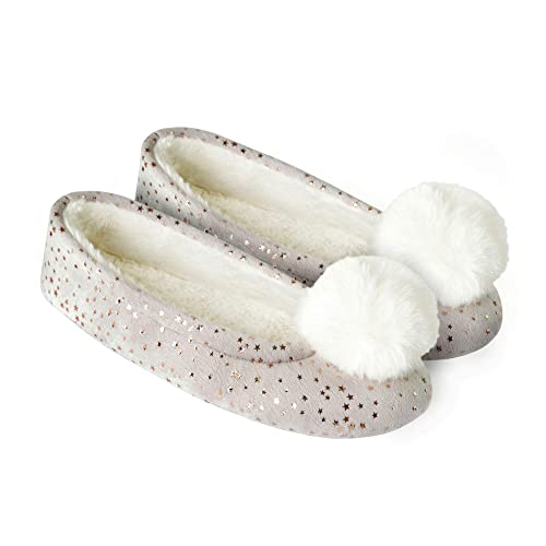 fefd3ddb7d5 Luxury Ladies Ballet Slip On Slippers Non-Slip Sole Soft Warm Comfortable  Cute - Great