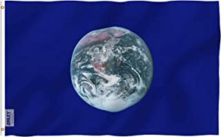 Anley Fly Breeze 3x5 Foot Earth Day Flag - Vivid Color and UV Fade Resistant - Canvas Header and Double Stitched - Environmental Awareness Flags Polyester with Brass Grommets 3 X 5 Ft