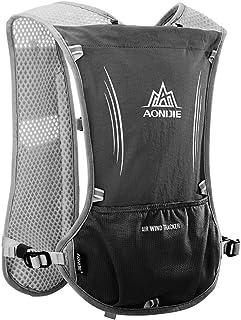 AONIJIE 5L Sac à dos d'Hydratation de sport sac vélo pour Cyclisme/ Excursion/ Course avec porte-bouteille pour sac d'eau de 1,5 L (Noir)