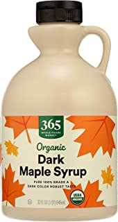 365 by Whole Foods Market, Organic Pure 1% Grade A Maple Syrup, Dark Color Robust Taste, 32 Fl Oz