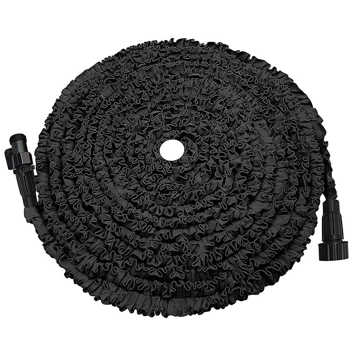 POYINRO Expandable Garden Hose, 50ft Strongest Expanding Garden Hose on The Market with Triple Layer Latex Core & Latest Improved Extra Strength Fabric Protection for All Your Watering Needs(Black)