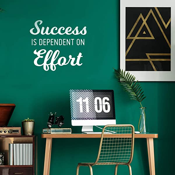 Vinyl Wall Art Decal Success Is Dependent On Effort 23 X 26 Motivational Home Bedroom Apartment Work Workplace Quote Positive Indoor Outdoor Living Room Office Decor 23 X 26 White