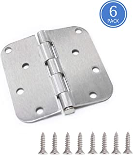 6 Pack Knobonly 4 x 4 Interior Door Hinges with 5/8