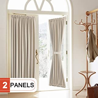 lined french door curtain panels