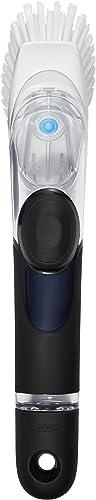 OXO Good Grips Cepillo con dispensador de jabón para fregar platos, sartenes y ollas