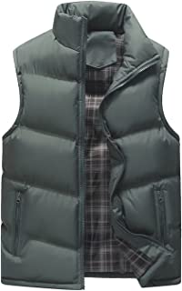 HOW'ON Men's Classic Sleeveless Stand Collar Quilted...