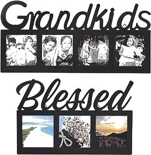 Fashioncraft Grandkids Photo Frame ~ Set Two Frames ~ Grandkids Blessed ~ Perfect Grandparents Frame Gift Set