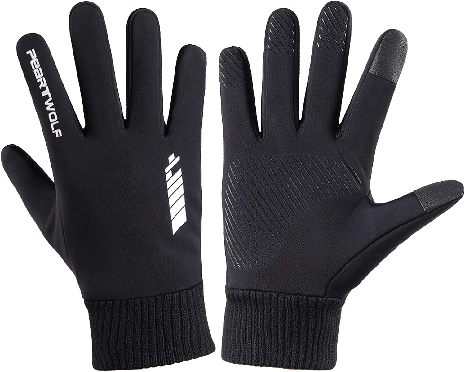 FACAIAFALO Winter Outdoor Gloves Ajustable Snowing Unisex Touch Screen Anti-Slip Fingertips Elastic Thermal