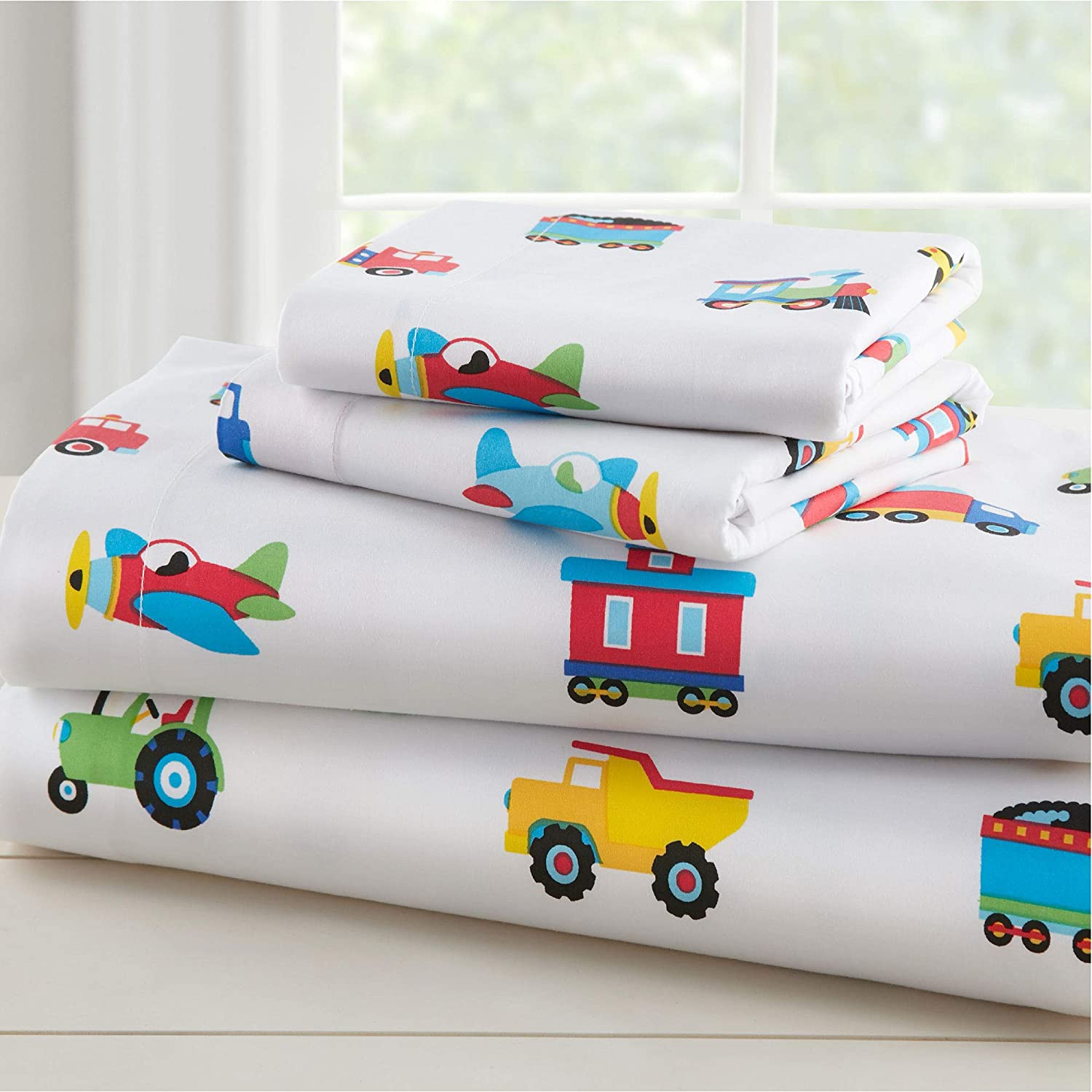 Wildkin Kids 100% Organic Cotton Flannel Sheet Weekly update Boys Set for Manufacturer direct delivery Full
