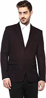 Single Breasted Partywear Blazer With Designer Microdot Pattern In Red