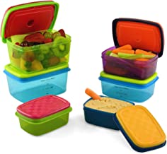 Fit & Fresh Kids' Healthy Lunch Set, 14-Piece Value Reusable Container Set with Removable Ice Packs, Leak-Proof, BPA-Free,...