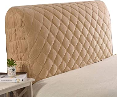 Bed Headboard Cover Crystal All Inclusive Slipcover Protector with Stretch Cotton