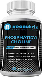 Phosphatidyl Choline Supplement from Soy Lecithin Nootropic Complex Support Brain Cells & Cognitive Functions Infused with...