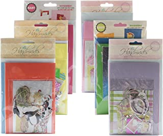 Jiulyning DIY Handmade Greeting Card Kit, Includes 18 Cards, 18 Envelopes and A Varirty of Embellishments