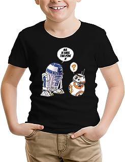 SD Edition Je suis Ton p/ère T-Shirt Noir Star Wars parodique R2-D2 et BB-8 : BB Parodie Star Wars