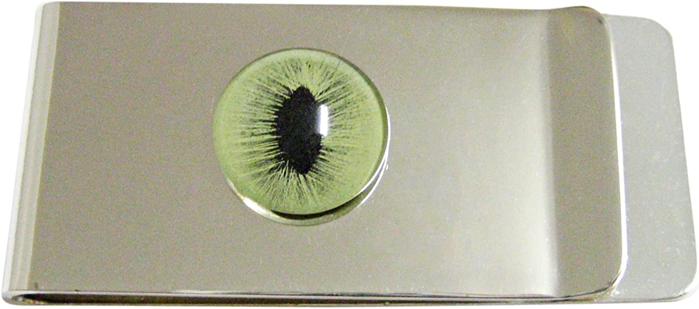 Green Cat Eye Design Money Clip