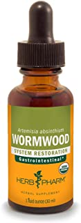 Herb Pharm Certified Organic Wormwood Liquid Extract for Digestive System Support - 1 Ounce