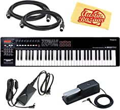 Roland A-800PRO MIDI Keyboard Controller Bundle with Roland DP-10 Damper Pedal, AC Adapter, 2 MIDI Cables, and Austin Bazaar Polishing Cloth