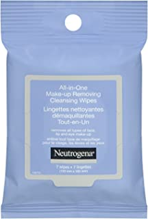 Neutrogena All in One Face Wipes, Alcohol Free Makeup Remover Wipes, 7 Count (Travel Size)