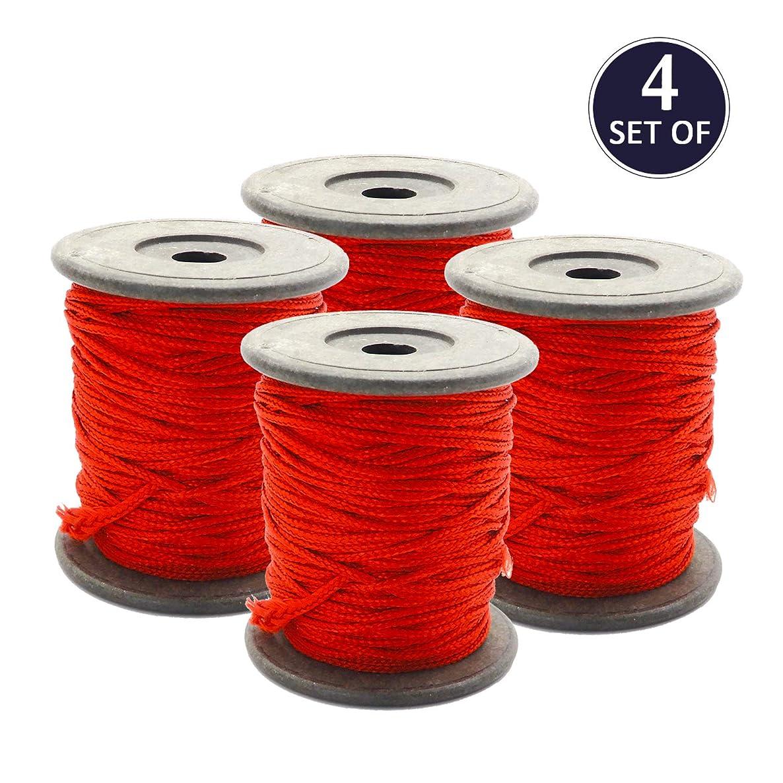 Bignay Cotton Thread (1mm, 10 Yards, Red) Kalwa RAKSHA Sutra-Nazar DHAGA, Beading, Jewelry Making, Sewing Thread Pack of 4