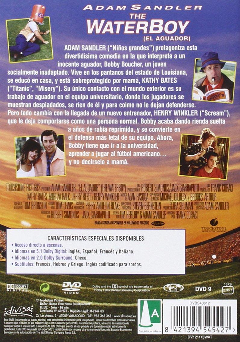 The Waterboy El Aguador Dvd Amazon Es Adam Sandler Kathy Bates Fairuza Balk Henry Winkler Jerry Reed Frank Coraci Adam Sandler Kathy Bates Peliculas Y Tv