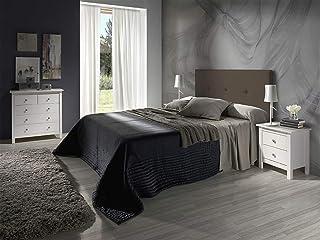 Cabecero tapizado Judith Chocolate 160 X 55 X 3 cm, Incluye herrajes para Colgar