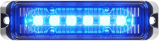 Abrams Flex Series (Blue/Blue) 18W - 6 LED Police & EMS Vehicle Truck LED Grille Light Head Surface Mount Strobe Warning Light