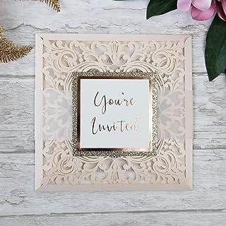 Carta con busta partecipazioni matrimonio taglio laser fai da te gelato inviti matrimonio - campione prestampato !!
