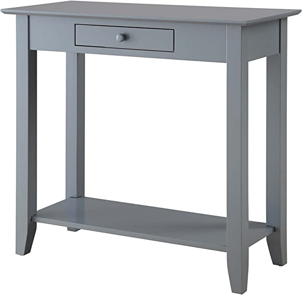 Convenience Concepts American Heritage Hall Table With Drawer And Shelf Gray
