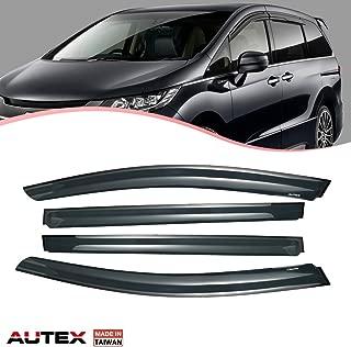 AUTEX Tape On Side Window Deflectors Compatible with Honda Odyssey 2011 2012 2013 2014 2015 2016 2017 Window Visor Rain Guard 4 Pieces a Set