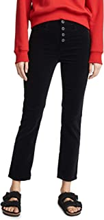 AG Adriano Goldschmied womens CORDUROY ISABELLE HIGH-RISE STRAIGHT CROP BUTTON UP Corduroys