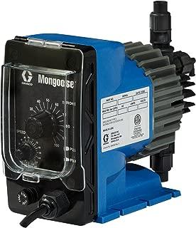 Mongoose A21009 Electric Chemical Metering Pump, 15 GPD, 120 VAC, PVDF