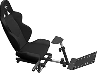 OpenWheeler Advanced Racing Seat Driving Simulator Gaming Chair with Gear Shifter Mount (Black)