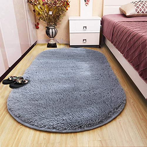 Lee D.Martin Ultra Soft Children Rugs Living Room Bedroom Oval Carpets Modern Shaggy Area