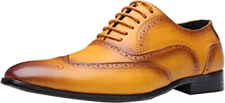Men Lace Up Dress Oxfords Classic Brogues Business Walk Leather Shoes