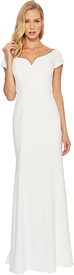 Badgley Mischka - Stretch Crepe Off the Shoulder
