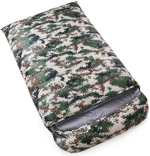 Double Sac de Couchage, Sac de Couchage d'enveloppe de Sac de Couchage avec Sac de Compression épais (Couleur   Camouflage 2, Taille   1 kg)