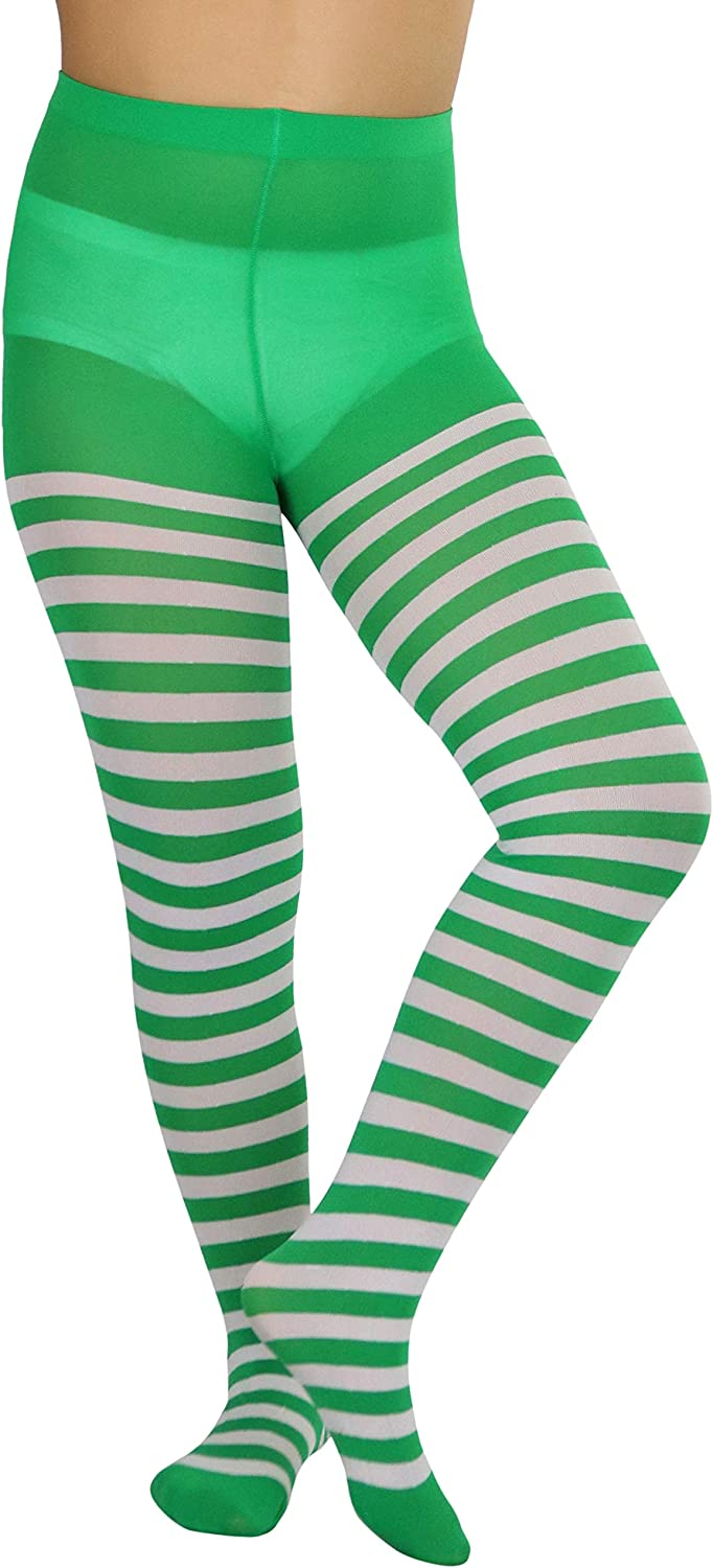 ToBeInStyle [Alternative dealer] Outlet ☆ Free Shipping Girls' Horizontal Striped Length Full Tights